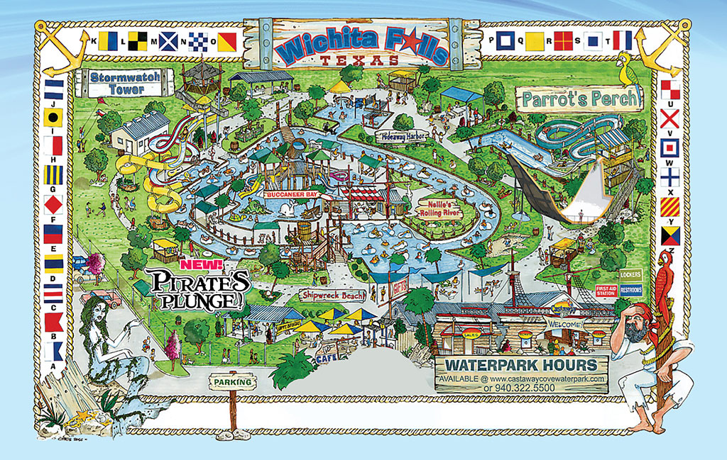 Park Map | Castaway Cove Water Park - Wichita Falls, TX